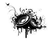 stereo партии grunge коробки иллюстрация штока