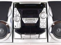 stereo серебра фронта коробки заграждения Стоковое Изображение RF