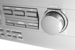 Stereo. Close up of a stereo with the volume turned up Stock Photography