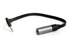 Stereo adapter mini-hefboom aan hefboom Royalty-vrije Stock Afbeelding