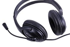 Stereo audiohoofdtelefoon stock fotografie