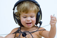 Stereo Baby Royalty Free Stock Photography