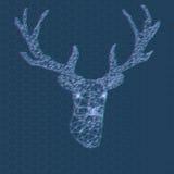 Stereo- bakgrund för hjorttriangelpolygon Geometrisk stil Royaltyfria Foton