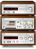 Stereo Cassette Deck with Amplifier and Tuner Stock Photography