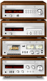 Stereo Cassette Deck Amplifier Tuner CD player Stock Image