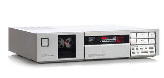 Stereo cassette deck Royalty Free Stock Photos