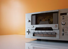 Stereo Cassette tape deck recorder player. Vintage Stereo Cassette tape deck recorder or player royalty free stock photos