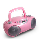 Stereo cd pink mp3 radio cassette recorder is. Isolated on a white background stock photos