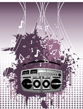 Stereo  composition. Stereo abstract music  composition Vector Illustration