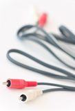 Stereo connection cables Royalty Free Stock Image