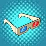 Stereo 3d glasses for cinema Stock Images