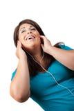 Stereo Earbud Headphones Stock Photo