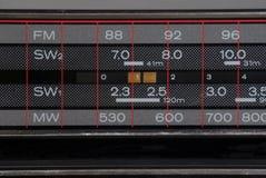 stereo för bildläsare för boomboxfrekvens gammal Royaltyfri Foto
