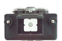 Stereo- fotokamera för gammal film och vitvägg Royaltyfria Bilder