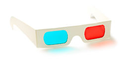 Stereo glasses. On the white background stock image