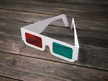 Stereo glasses for cinema. 3d rendering Royalty Free Stock Image