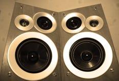 stereo- högtalare Arkivbilder