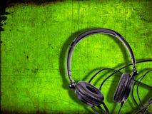 stereo- hörlurar arkivfoto