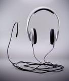 stereo- hörlurar Arkivbilder