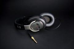 stereo- hörlurar arkivfoton