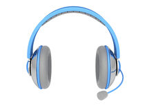 Stereo headphone with mic Stock Image