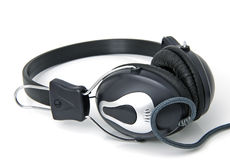 Stereo headphones. For listening of qualitative music Stock Photo