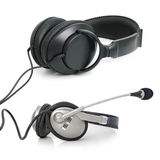 Stereo headphones Stock Image