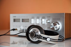 Stereo Headphones with Amplifier Stock Photos
