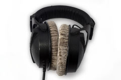 Stereo headphones closeup Royalty Free Stock Image
