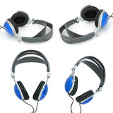 Stereo headphones for listening of qualitative music Royalty Free Stock Photos