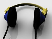Stereo headset Royalty Free Stock Images