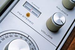 Stereo knoppen Royalty-vrije Stock Foto's