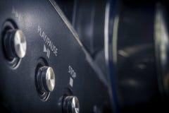 Stereo- lekknapp arkivbild
