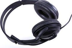 Stereo- ljudsignal hörlurar med mikrofon royaltyfri fotografi