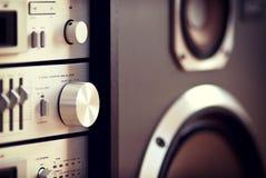 Stereo- ljudsignal knopp för kontroll för del för musikkugge Royaltyfri Foto