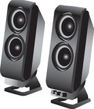 Stereo loudspeakers Stock Photos