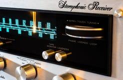 Stereo- mottagare för tappning - gyroskopvisartavla Royaltyfria Bilder