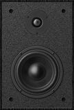 Stereo music audio equipment bass sound speaker, black sound spe Royalty Free Stock Photography