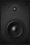 Stereo music audio equipment bass sound speaker, black sound spe Royalty Free Stock Images