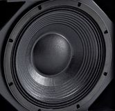 Stereo music audio equipment bass sound speaker stock photos