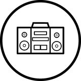 Stereo music player vector symbol Royalty Free Stock Photography