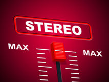 Stereo Music Represents Sound Track And Acoustic Royalty Free Stock Images