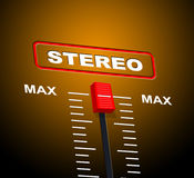 Stereo Music Shows Sound Track And Audio Stock Photo