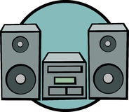 Stereo music system vector illustration Royalty Free Stock Image