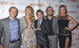 In Stereo. New York, NY, USA - June 24, 2015: (L-R) Micah Hauptman, Beau Garrett, Mario Cantone, Mel Rodriguez III, Melissa Bolona attend the New York premiere stock photos