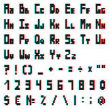 Stereo pixel alphabet with Anaglyph effect. Stereo pixel alphabet with Anaglyph 3D effect Stock Illustration