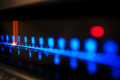 Stereo receiver tuning scale royalty free stock photos