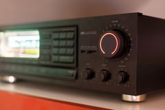Stereo receiver with the volume knob turned up to the maximum Stock Photography