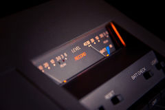 Stereo Recorder VU meters Stock Photo