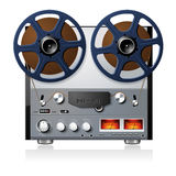 Stereo reel to reel tape deck player recorder Stock Photography
